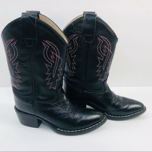 Old West Kids' Leather Cowboy Boot - 8110 Size 12T